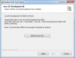 Android SDK Tools Setup JDK not found